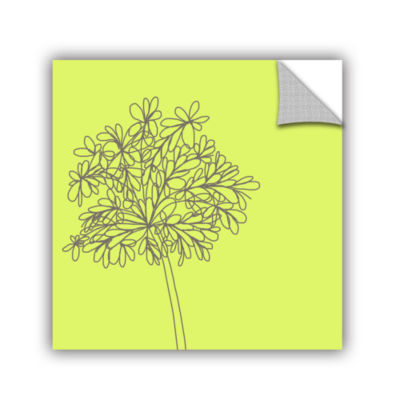 Brushstone Citron Happy Flower Ii Removable Wall Decal