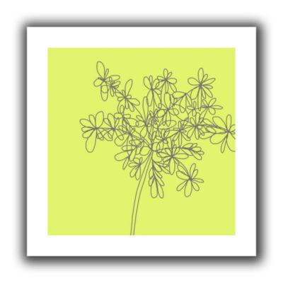 Brushstone Citron Happy Flower Canvas Wall Art