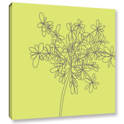Brushstone Citron Happy Flower Gallery Wrapped Canvas Wall Art