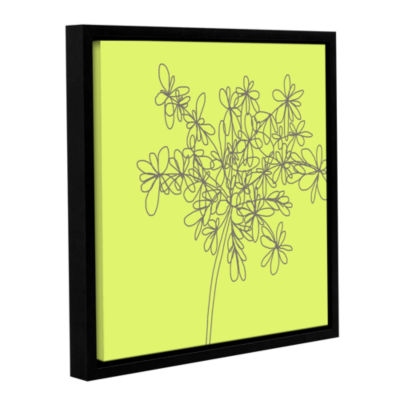 Brushstone Citron Happy Flower Gallery Wrapped Floater-Framed Canvas Wall Art
