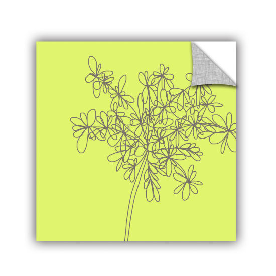 Brushstone Citron Happy Flower Removable Wall Decal