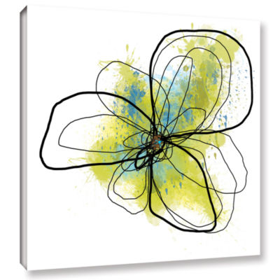 Brushstone Citron Petals II Gallery Wrapped CanvasWall Art