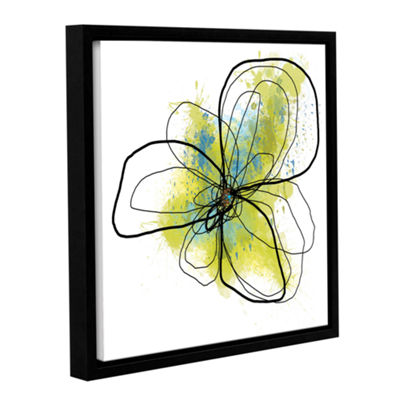 Brushstone Citron Petals II Gallery Wrapped Floater-Framed Canvas Wall Art