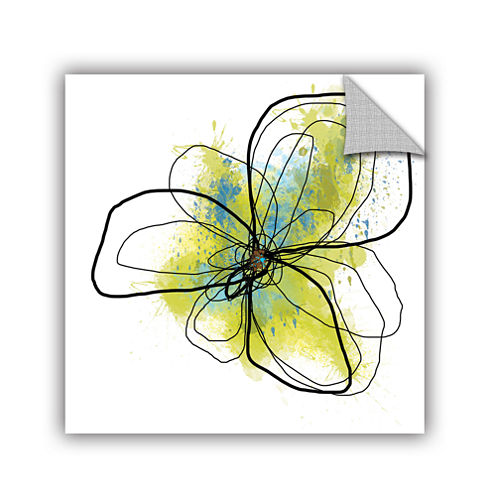 Brushstone Citron Petals Ii Removable Wall Decal