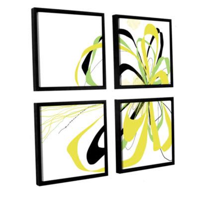 Brushstone Citrus Knot 4-pc. Square Floater FramedCanvas Wall Art