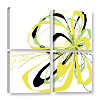 Brushstone Citrus Knot 4-pc. Square Gallery Wrapped Canvas Wall Art
