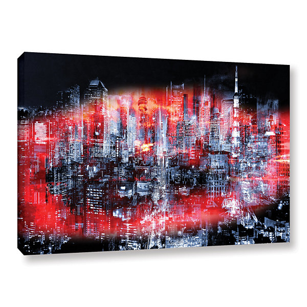 Brushstone City Heat Landscape Gallery Wrapped Canvas Wall Art