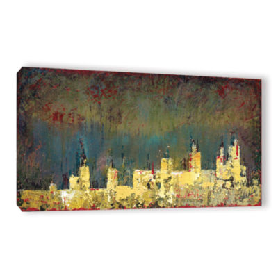 Brushstone City Lights I (008) Gallery Wrapped Canvas Wall Art