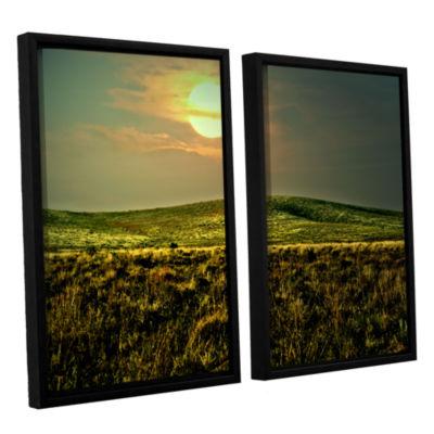 Brushstone Corner Pocket 2-pc. Floater Framed Canvas Wall Art