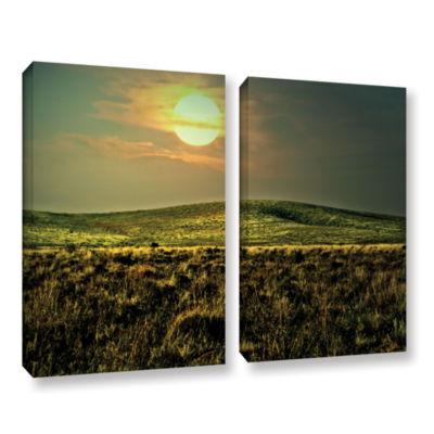 Brushstone Corner Pocket 2-pc. Gallery Wrapped Canvas Wall Art