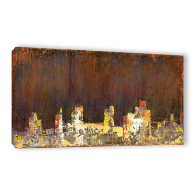 Brushstone City Lights I (009) Gallery Wrapped Canvas Wall Art