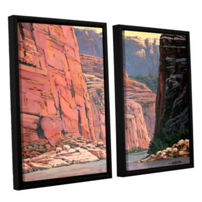 Brushstone Colorado River Walls 2-pc. Floater Framed Canvas Wall Art