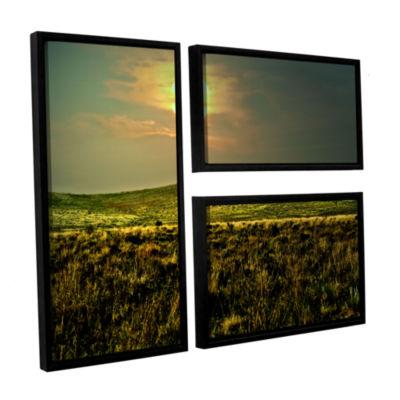 Brushstone Corner Pocket 3-pc. Flag Floater FramedCanvas Wall Art