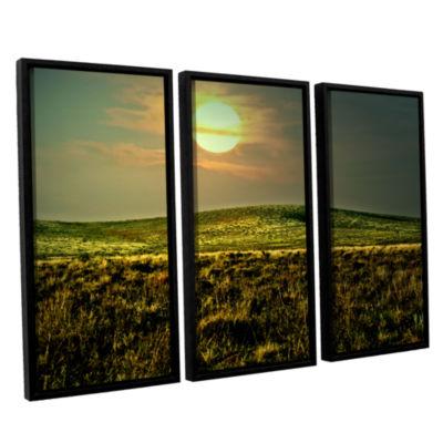 Brushstone Corner Pocket 3-pc. Floater Framed Canvas Wall Art