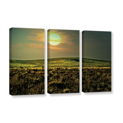 Brushstone Corner Pocket 3-pc. Gallery Wrapped Canvas Wall Art