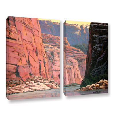 Brushstone Colorado River Walls 2-pc. Gallery Wrapped Canvas Wall Art