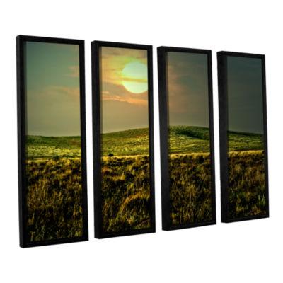 Brushstone Corner Pocket 4-pc. Floater Framed Canvas Wall Art