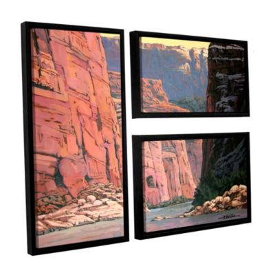 Brushstone Colorado River Walls 3-pc. Flag FloaterFramed Canvas Wall Art
