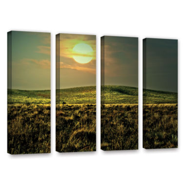 Brushstone Corner Pocket 4-pc. Gallery Wrapped Canvas Wall Art