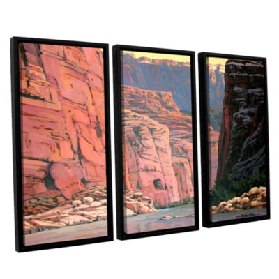 Brushstone Colorado River Walls 3-pc. Floater Framed Canvas Wall Art