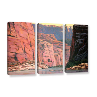 Brushstone Colorado River Walls 3-pc. Gallery Wrapped Canvas Wall Art