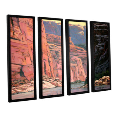 Brushstone Colorado River Walls 4-pc. Floater Framed Canvas Wall Art