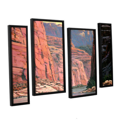 Brushstone Colorado River Walls 4-pc. Floater Framed Staggered Canvas Wall Art
