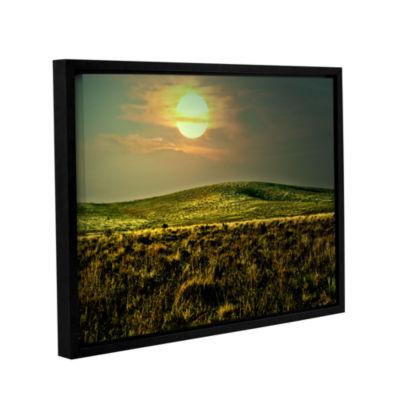 Brushstone Corner Pocket Gallery Wrapped Floater-Framed Canvas Wall Art