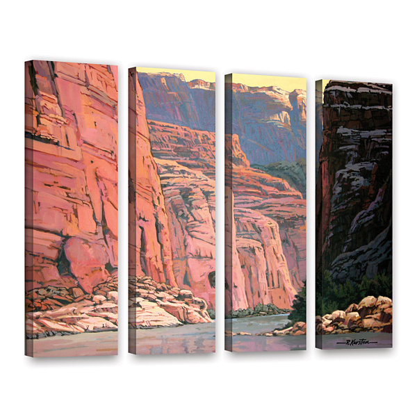 Brushstone Colorado River Walls 4-pc. Gallery Wrapped Canvas Wall Art