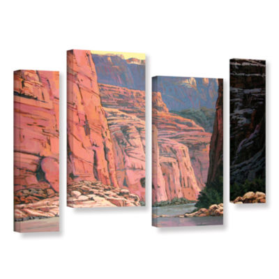 Brushstone Colorado River Walls 4-pc. Gallery Wrapped Staggered Canvas Wall Art