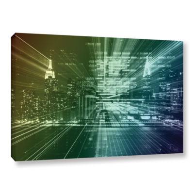 Brushstone City Lights Gallery Wrapped Canvas WallArt