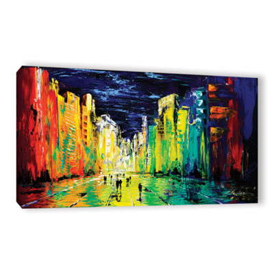 Brushstone City Of Color Gallery Wrapped Canvas Wall Art