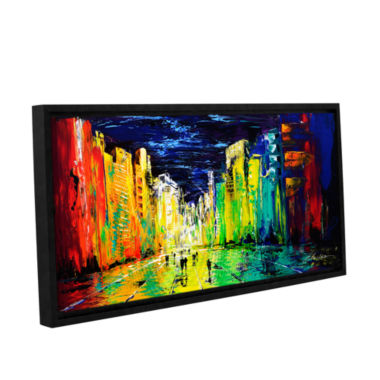 Brushstone City Of Color Gallery Wrapped Floater-Framed Canvas Wall Art