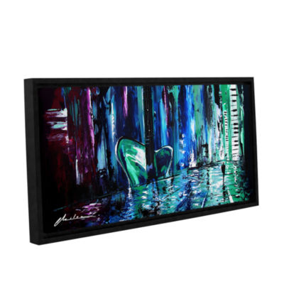 Brushstone City Of Musice Gallery Wrapped Floater-Framed Canvas Wall Art
