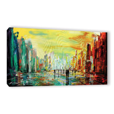 Brushstone City Of Time Gallery Wrapped Canvas Wall Art