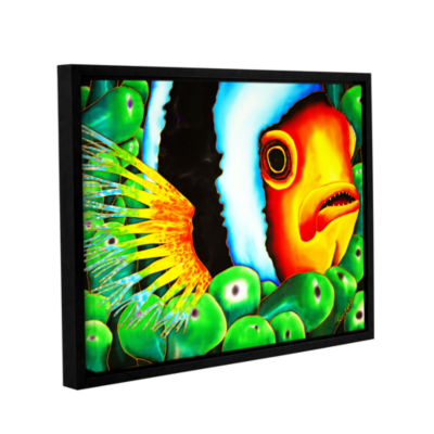 Brushstone Clownfish Gallery Wrapped Floater-Framed Canvas Wall Art