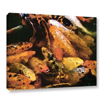 Brushstone Cluster Of Koi Gallery Wrapped Canvas Wall Art