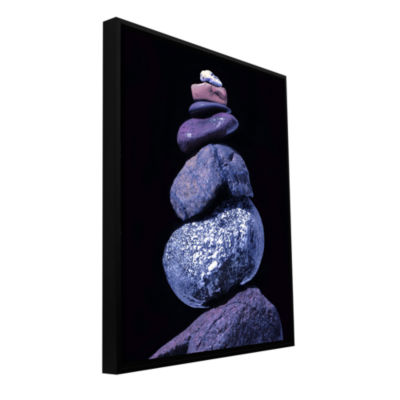 Brushstone Cold Cairn Gallery Wrapped Floater-Framed Canvas Wall Art