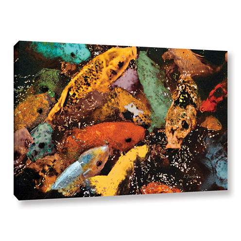 Brushstone Colorful Koi Gallery Wrapped Canvas Wall Art
