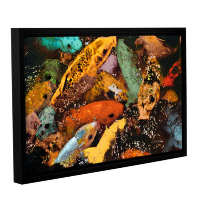Brushstone Colorful Koi Gallery Wrapped Floater-Framed Canvas Wall Art