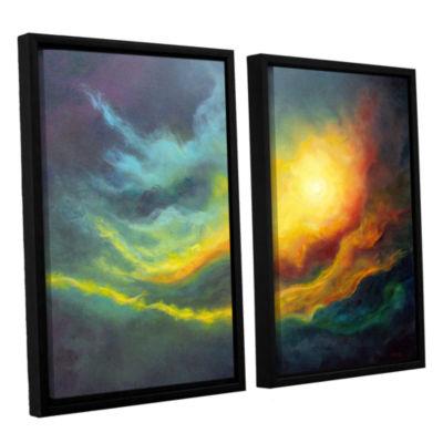 Brushstone Cosmic Light 2-pc. Floater Framed Canvas Wall Art