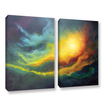 Brushstone Cosmic Light 2-pc. Gallery Wrapped Canvas Wall Art