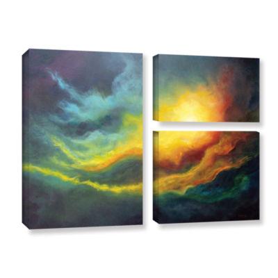 Brushstone Cosmic Light 3-pc. Flag Gallery WrappedCanvas Wall Art