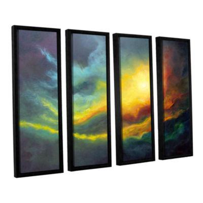 Brushstone Cosmic Light 4-pc. Floater Framed Canvas Wall Art