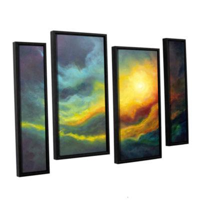 Brushstone Cosmic Light 4-pc. Floater Framed Staggered Canvas Wall Art