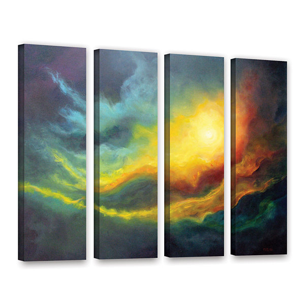 Brushstone Cosmic Light 4-pc. Gallery Wrapped Canvas Wall Art