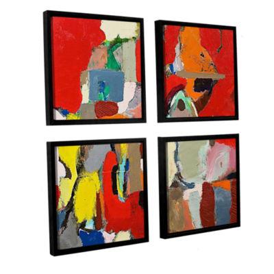 Brushstone Costal Sunrise 4-pc. Square Floater Framed Canvas Wall Art