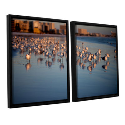 0763A 2-pc. Floater Framed Canvas Wall Art