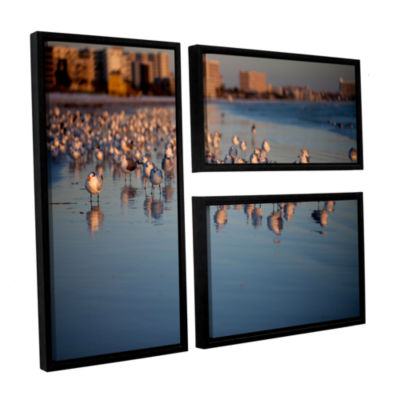 Brushstone 0763a 3-pc. Flag Floater Framed CanvasWall Art