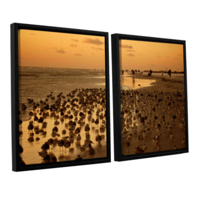 Brushstone 0807a 2-pc. Floater Framed Canvas WallArt